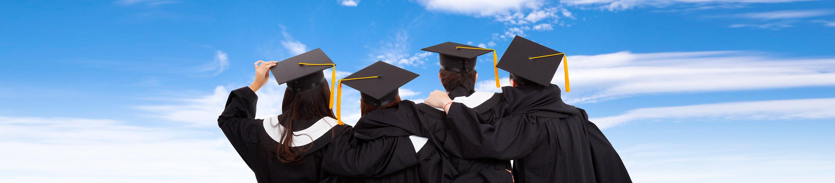 Graduates looking onward
